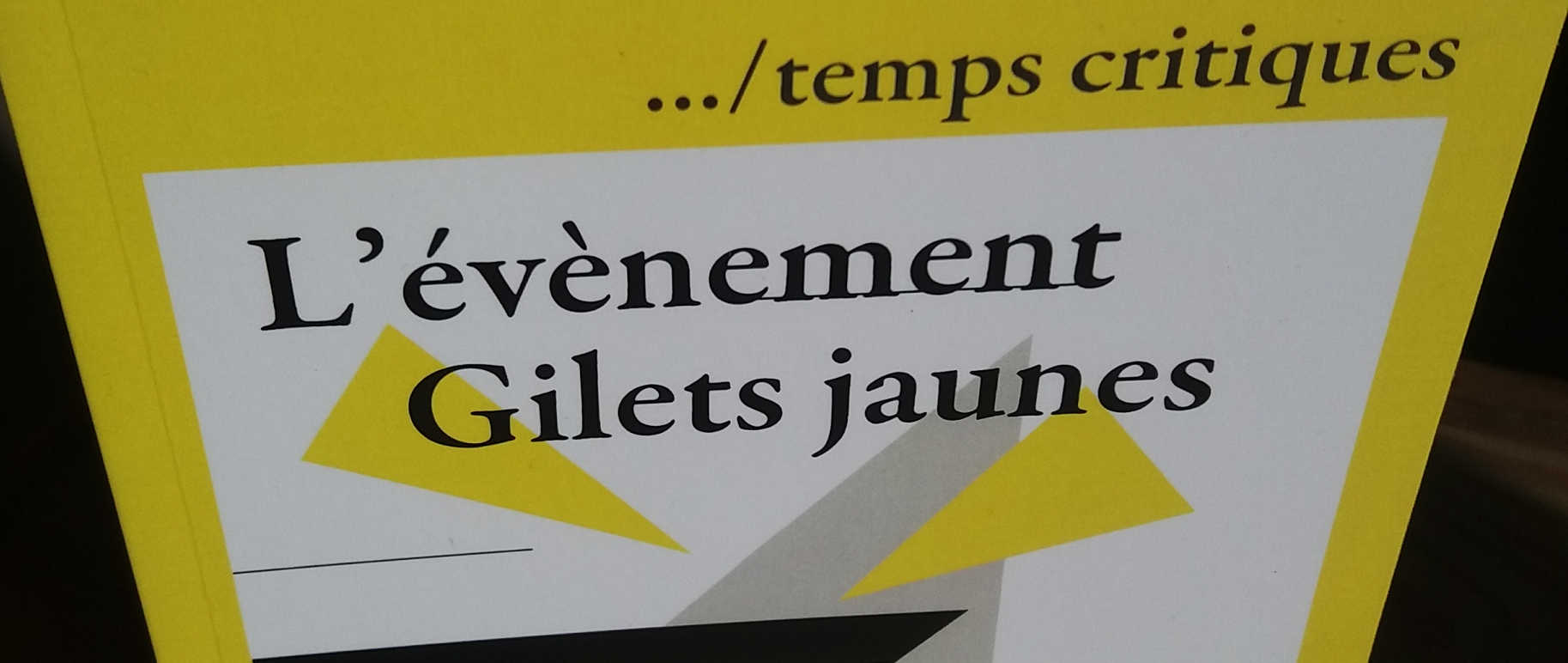 Photo du livre L'évènement Gilets jaunes
